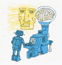 Artificial intelligence cartoon vector