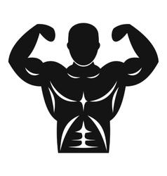 Athletic man torso icon simple style vector image