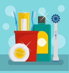 bathroom icon flat style vector image