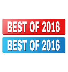 Best of 2016 title on blue and red rectangle vector