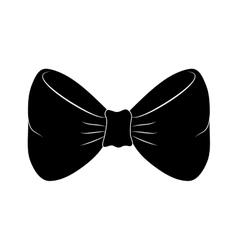 Bow tie fashion vector