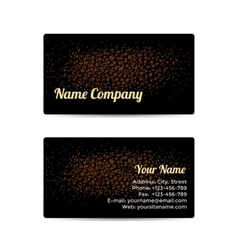 Business Card with Leather Background vector image