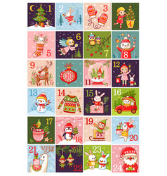 calendar 2018 collection of vector image