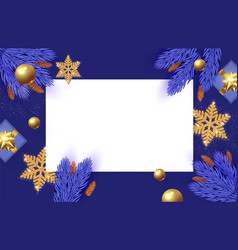 christmas design template with square paper banner vector image