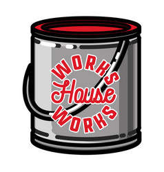 Color vintage house works emblem vector