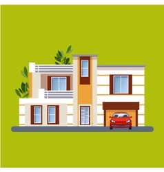 Colorful Flat Residential Houses vector image