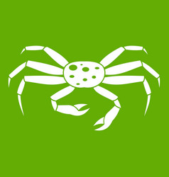 Crab seafood icon green vector