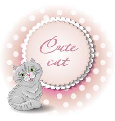 cute cat draw vector image