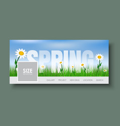 design web banners with spring landscape vector image