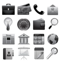 Detailed business icons vector image vector image
