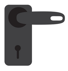 door handle icon on white background door handle vector image vector image