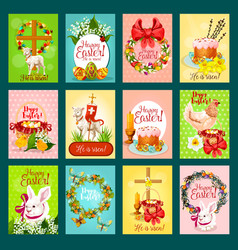 easter greeting card banner poster set design vector image