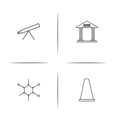 Education and science simple linear icon set vector