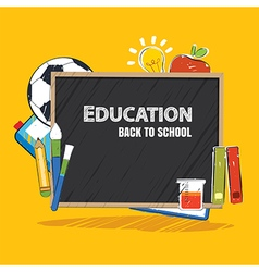 Education banner and back to school template vector