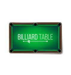 empty billiard table green game snooker vector image