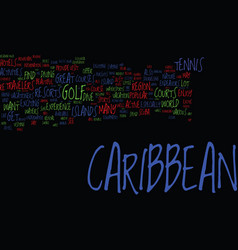 Endeavors in caribbean for active travelers vector