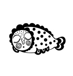 fantastic sleeping fish isolate vector image