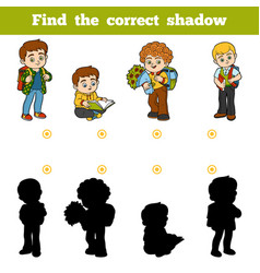 find correct shadow game for children vector image