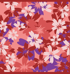 flowers spring summer color seamless pattern vector image