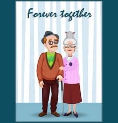 Forever together greeting card granddaddy and vector