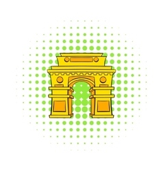 Gate New Delhi India icon comics style vector