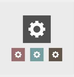 gear icon simple vector image
