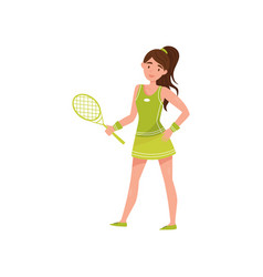 girl tennis player professional sportswoman vector image