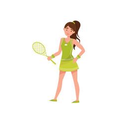 girl tennis player professional sportswoman vector image