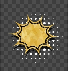 Gold sparkle comic text star bubble vector image