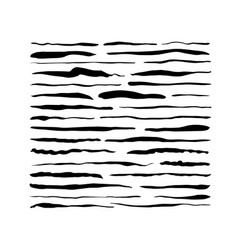 Hand drawn grungy paint brush strokes collection vector