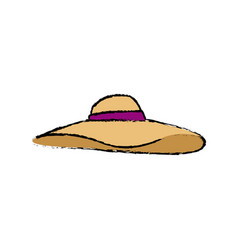 Hat woman accessorie fashion vacations vector
