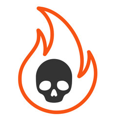 hell fire flat icon vector image