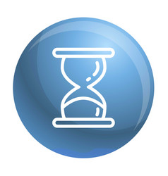 hourglass timer icon outline style vector image