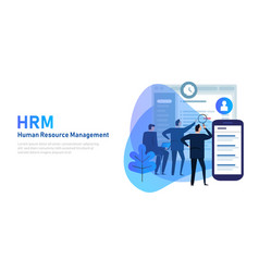 hrm human resource management hris software and vector image