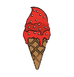 ice cream with sprinkles icon image vector image vector image
