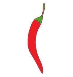 isolated flat hot pepper vector image