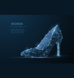 Isolated woman shoe elegance glamour vector