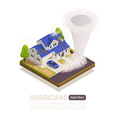 Isometric natural disaster composition vector
