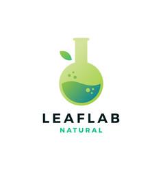 Leaf lab nature logo icon vector