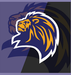 lion head logo esport mascot design vector image