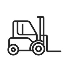loader truck icon vector image