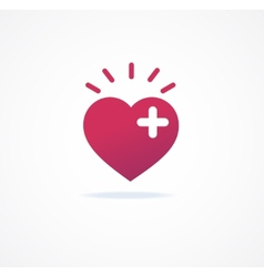 love signs Heart or Add icon vector image