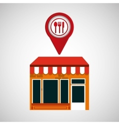 Mobile phone restaurant shop locater vector