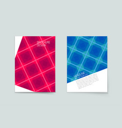 mosaic or geometric cover design with line color vector image