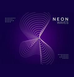Neon trance party flyer electro dance music vector