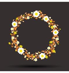 orange round flowers vector image
