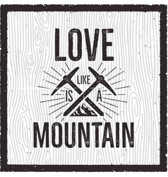 outdoors logo emblem vintage hand drawn mountains vector image