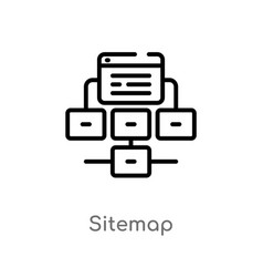 Outline sitemap icon isolated black simple line vector