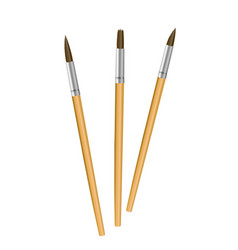 paint and brush isolated objects on white vector image