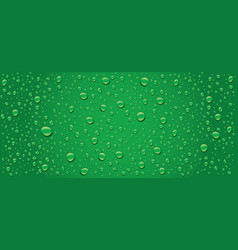 Panorama of green water drops background vector